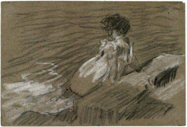 El río. Reflexión inspirada en un dibujo de Sorolla.
