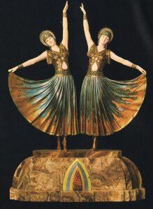 Criselefantinas. Pequeñas bailarinas Art Decó.