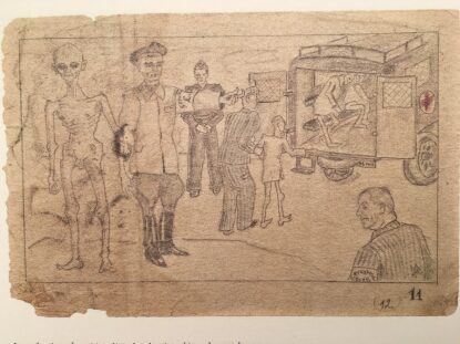 El cuaderno de los bocetos de Auschwitz.