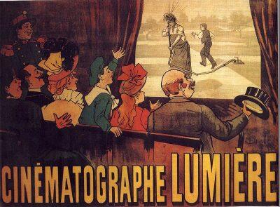 El regador regado, la primera película de ficción y el primer cartel cinematográfico.