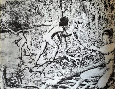 Los indocubanos. Texto e ilustraciones.