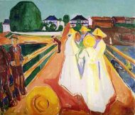 mujeres en el puente munch 1