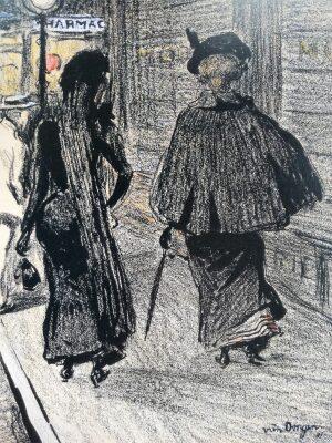 El París artístico de fin de siglo y los grabados de Félix Vallotton.
