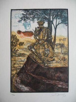 El Quijote ilustrado por artistas cubanos.