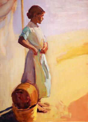 «Sorolla femenino plural». Pintura.