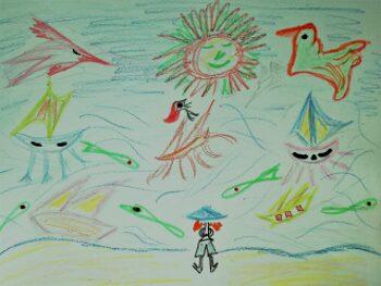 Un día de playa. Poema para los niños.
