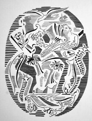 El cementerio marino  (Paul Valéry). Dibujos de Gino Severini para el poema.