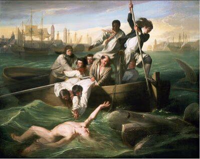 Watson y el tiburón (John Singleton Copley). Y el puerto de La Habana.